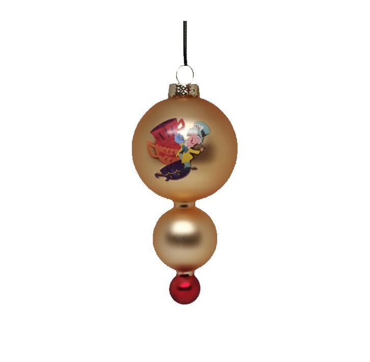 Alice in Wonderland Glas Mad Hatter / De Gekke Hoedenmaker Ornament Kerstbal Kurt S Adler