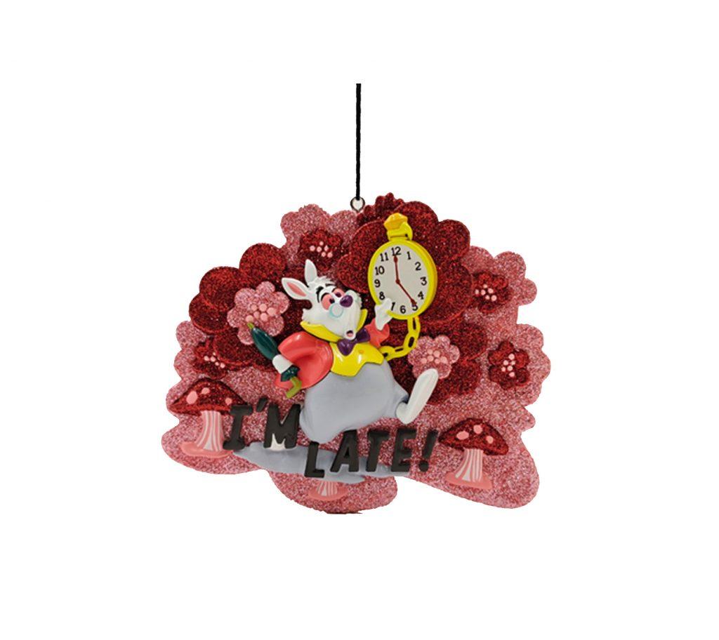 Alice in Wonderland On Time White Rabbit / Konijn 2D Ornament / Kerstbal Kurt S Adler