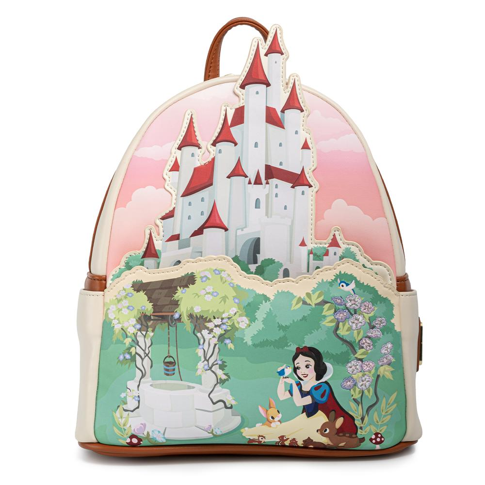 LOUNGEFLY DISNEY SNOW WHITE CASTLE SERIES MINI BACKPACK / RUGZAK