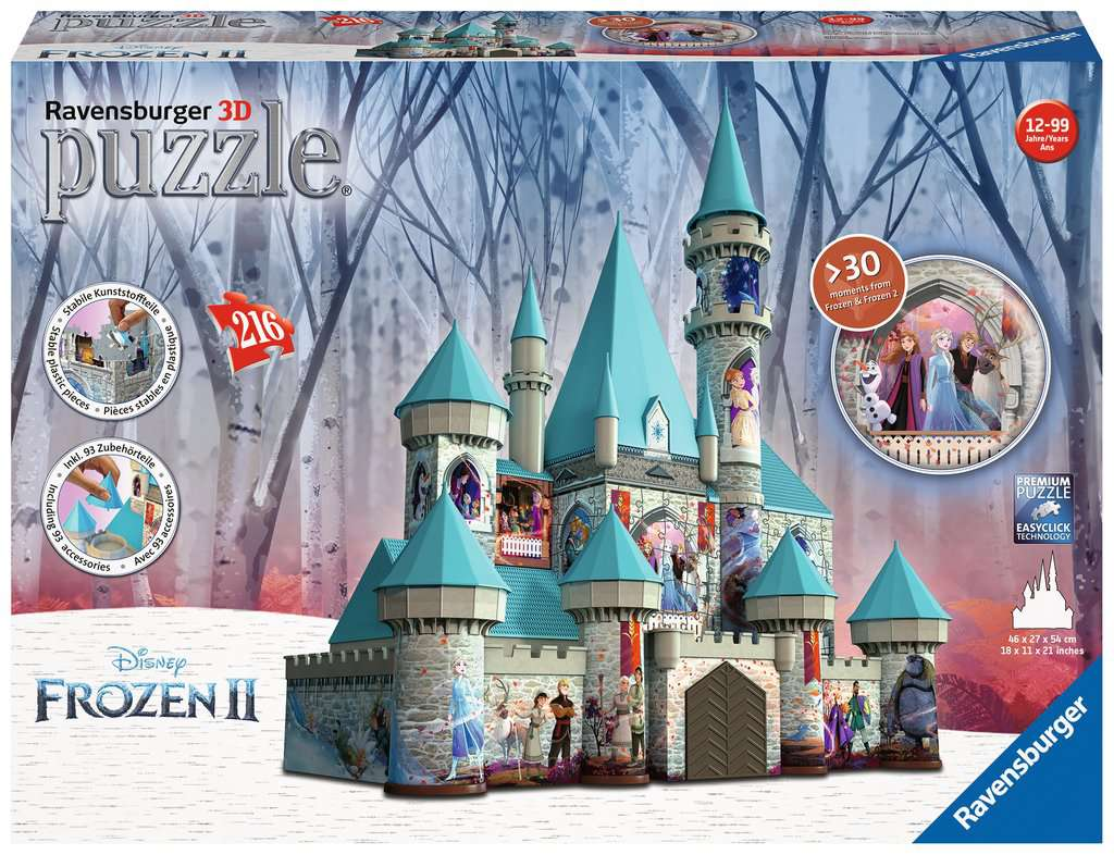 Ravensburger Disney Frozen kasteel - 3D puzzel - 216 stukjes
